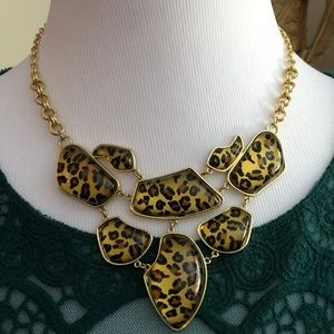 2/$20 Leopard Gold Tone Statement Necklace *L2O*